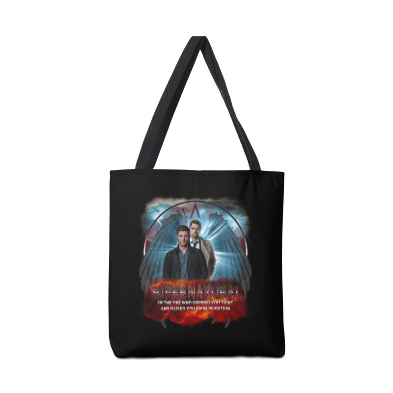 Supernatural I'm the one who gripped you tight and raised you from Perdition 2 Accessories Bag by ratherkool's Artist Shop