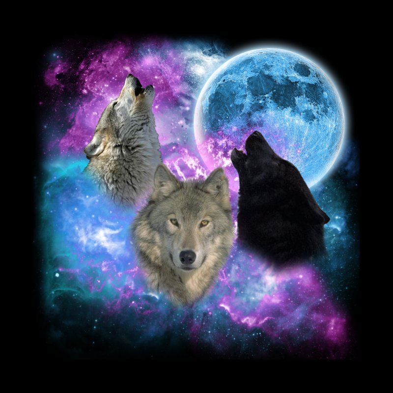 Wolves Mystical Night 2 by ratherkool's Artist Shop