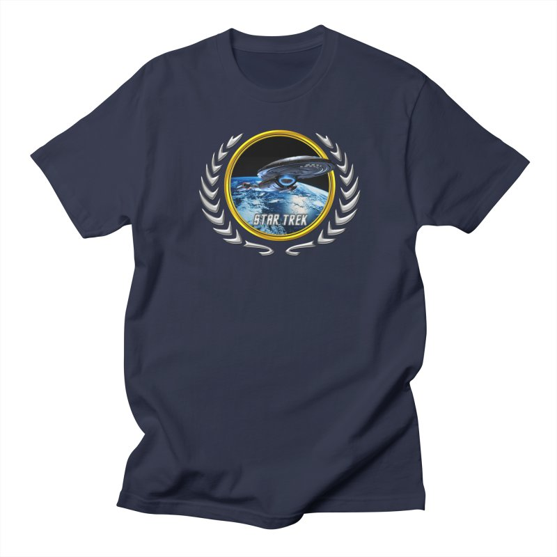 Star trek Federation of Planets Voyager in Men's T-Shirt Navy by ratherkool's Artist Shop