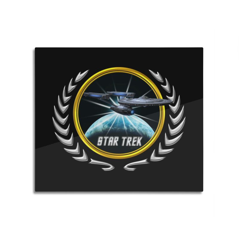 Star trek Federation of Planets Enterprise Refit 2 Home Mounted Aluminum Print by ratherkool's Artist Shop
