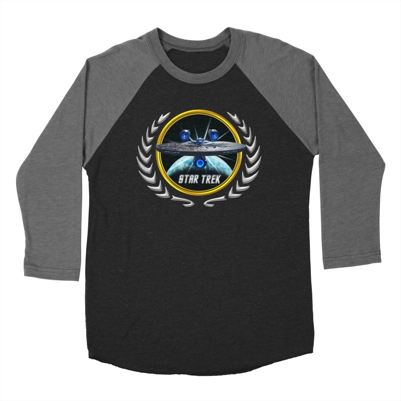 Star trek Federation of Planets Enterprise JJA3 Men's Baseball Triblend T-Shirt by ratherkool's Artist Shop