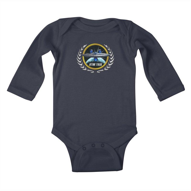 Star trek Federation of Planets Enterprise JJA3 Kids Baby Longsleeve Bodysuit by ratherkool's Artist Shop