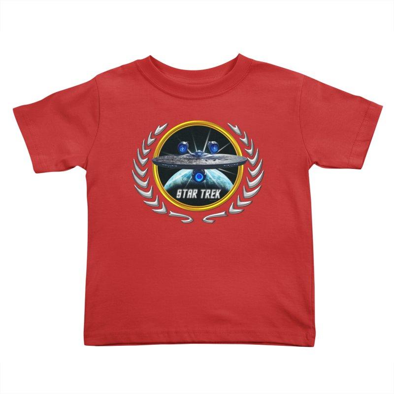 Star trek Federation of Planets Enterprise JJA3 Kids Toddler T-Shirt by ratherkool's Artist Shop