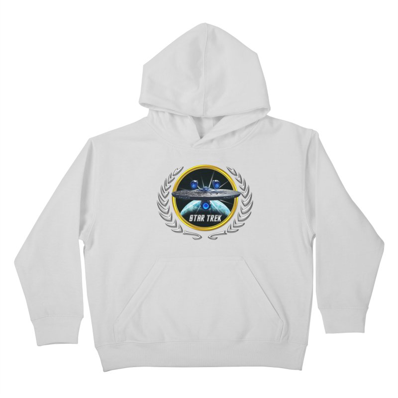 Star trek Federation of Planets Enterprise JJA3 Kids Pullover Hoody by ratherkool's Artist Shop