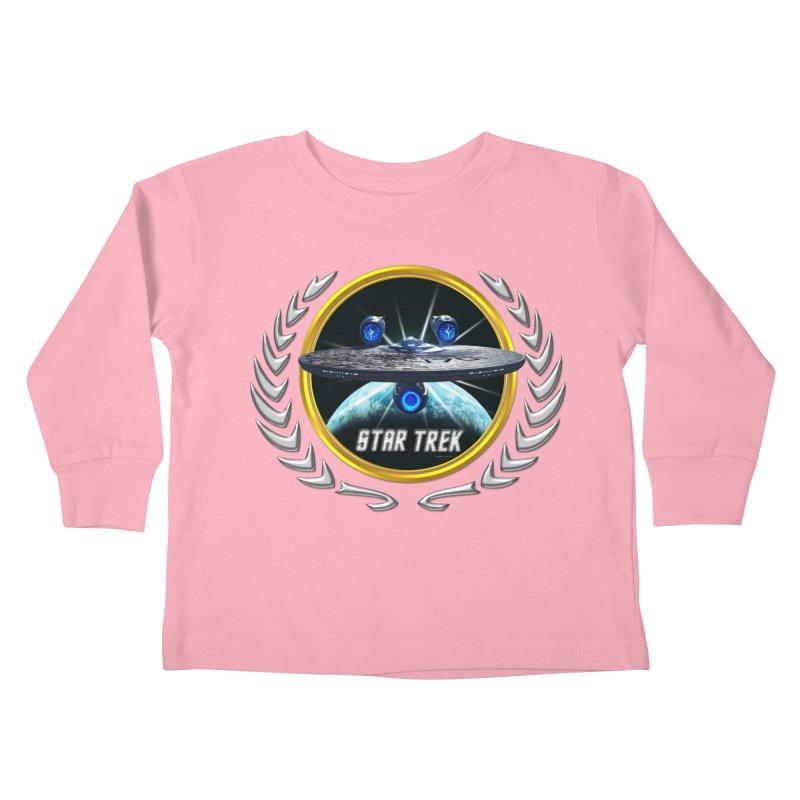 Star trek Federation of Planets Enterprise JJA3 Kids Toddler Longsleeve T-Shirt by ratherkool's Artist Shop