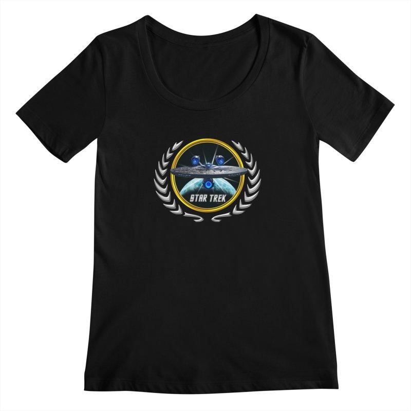 Star trek Federation of Planets Enterprise JJA3 Women's Scoopneck by ratherkool's Artist Shop