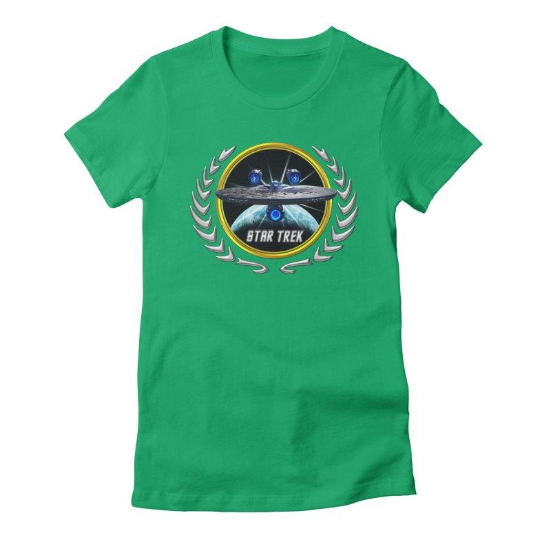 Star trek Federation of Planets Enterprise JJA3 Women's Fitted T-Shirt by ratherkool's Artist Shop