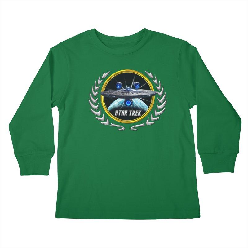 Star trek Federation of Planets Enterprise JJA3 Kids Longsleeve T-Shirt by ratherkool's Artist Shop