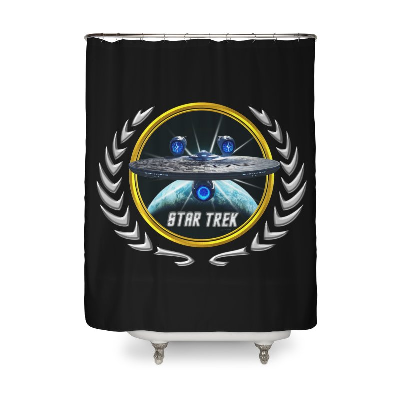 Star trek Federation of Planets Enterprise JJA3 Home Shower Curtain by ratherkool's Artist Shop