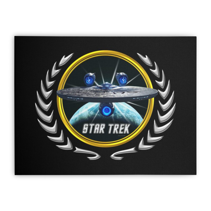 Star trek Federation of Planets Enterprise JJA3 Home Stretched Canvas by ratherkool's Artist Shop