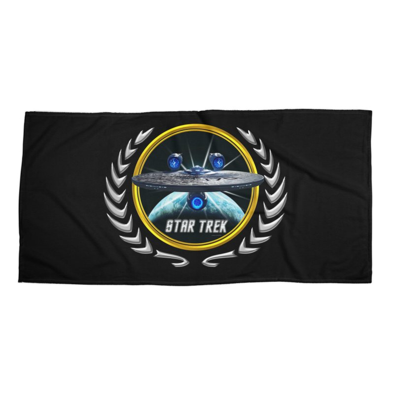 Star trek Federation of Planets Enterprise JJA3 Accessories Beach Towel by ratherkool's Artist Shop