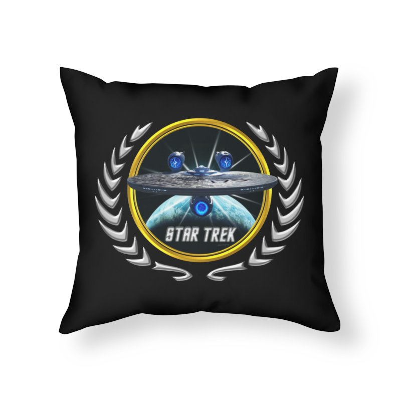 Star trek Federation of Planets Enterprise JJA3 Home Throw Pillow by ratherkool's Artist Shop