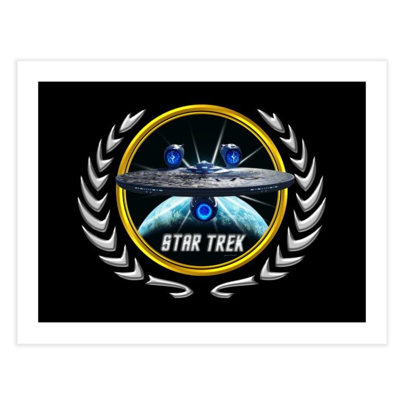 Star trek Federation of Planets Enterprise JJA3 Home Fine Art Print by ratherkool's Artist Shop