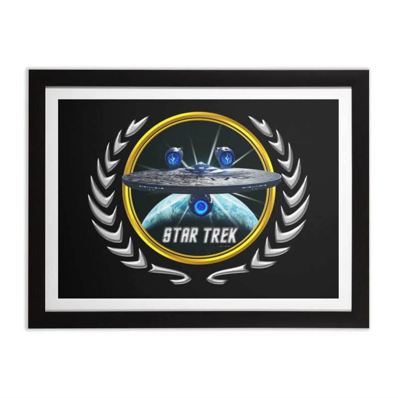 Star trek Federation of Planets Enterprise JJA3 Home Framed Fine Art Print by ratherkool's Artist Shop