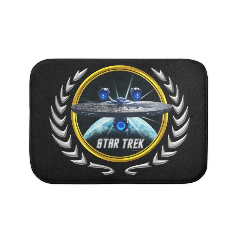 Star trek Federation of Planets Enterprise JJA3 Home Bath Mat by ratherkool's Artist Shop