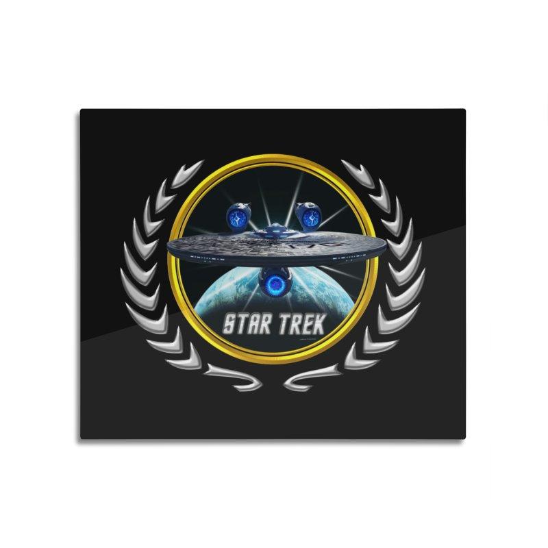 Star trek Federation of Planets Enterprise JJA3 Home Mounted Aluminum Print by ratherkool's Artist Shop