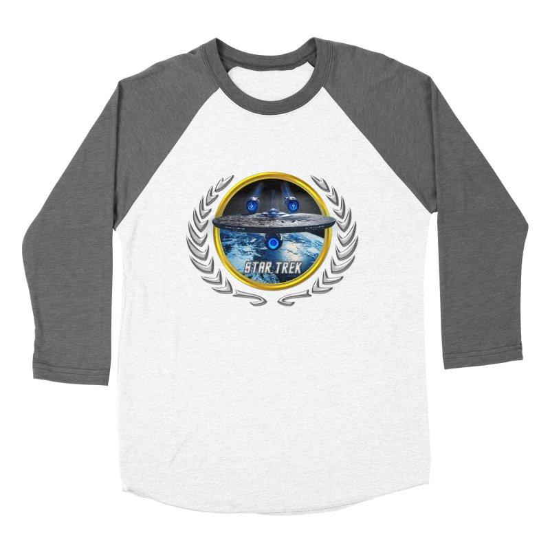 Star trek Federation of Planets Enterprise JJA2 Men's Baseball Triblend T-Shirt by ratherkool's Artist Shop