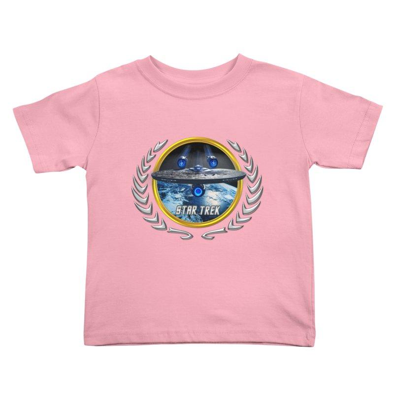 Star trek Federation of Planets Enterprise JJA2 Kids Toddler T-Shirt by ratherkool's Artist Shop