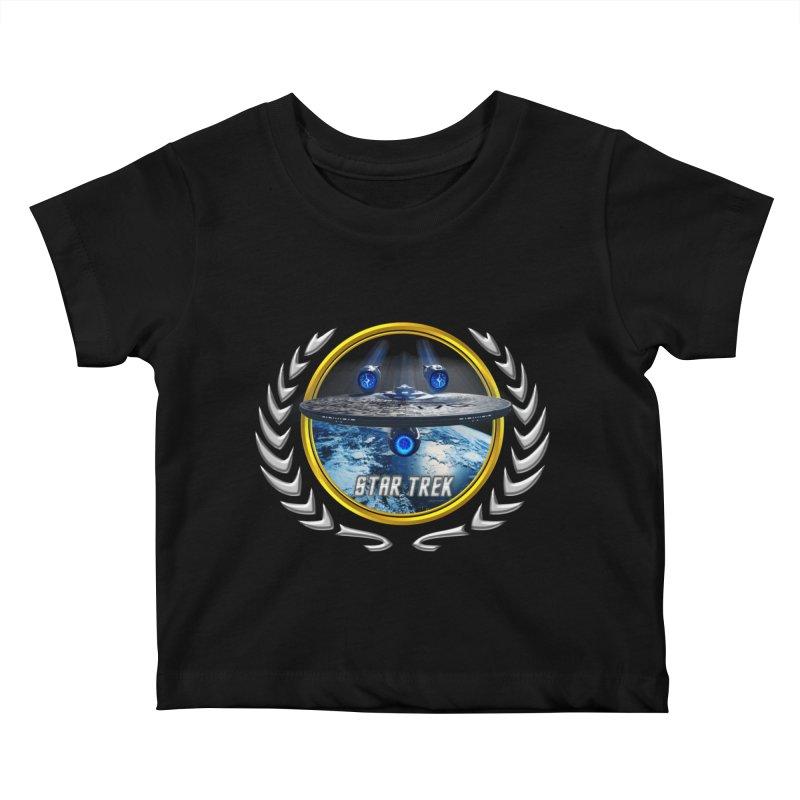 Star trek Federation of Planets Enterprise JJA2 Kids Baby T-Shirt by ratherkool's Artist Shop