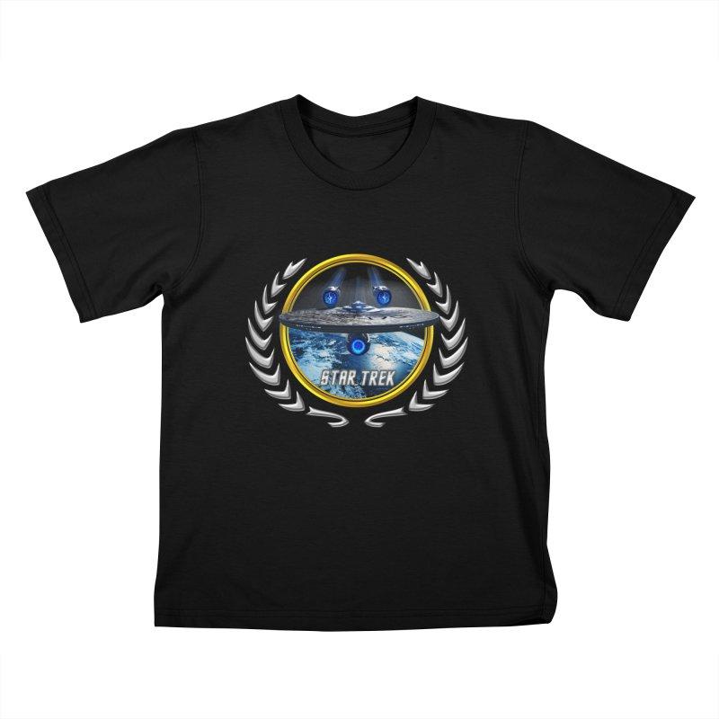 Star trek Federation of Planets Enterprise JJA2 Kids T-Shirt by ratherkool's Artist Shop