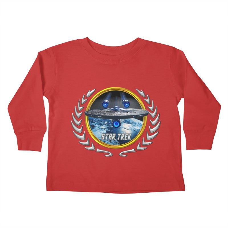 Star trek Federation of Planets Enterprise JJA2 Kids Toddler Longsleeve T-Shirt by ratherkool's Artist Shop