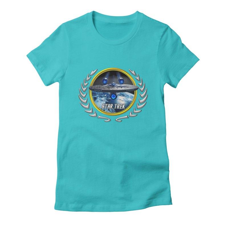 Star trek Federation of Planets Enterprise JJA2 Women's Fitted T-Shirt by ratherkool's Artist Shop