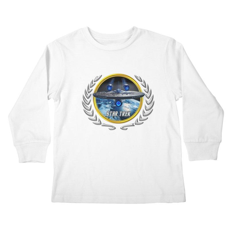 Star trek Federation of Planets Enterprise JJA2 Kids Longsleeve T-Shirt by ratherkool's Artist Shop