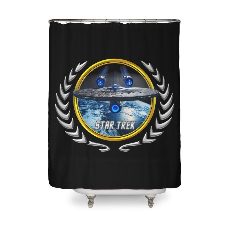 Star trek Federation of Planets Enterprise JJA2 Home Shower Curtain by ratherkool's Artist Shop
