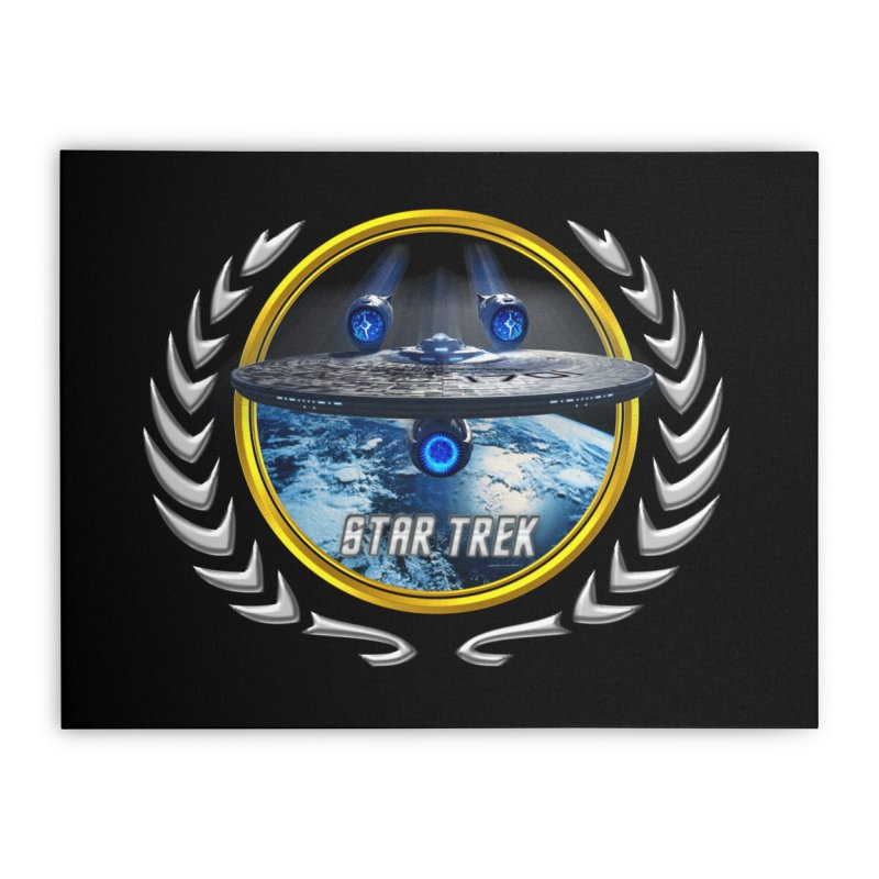 Star trek Federation of Planets Enterprise JJA2 Home Stretched Canvas by ratherkool's Artist Shop