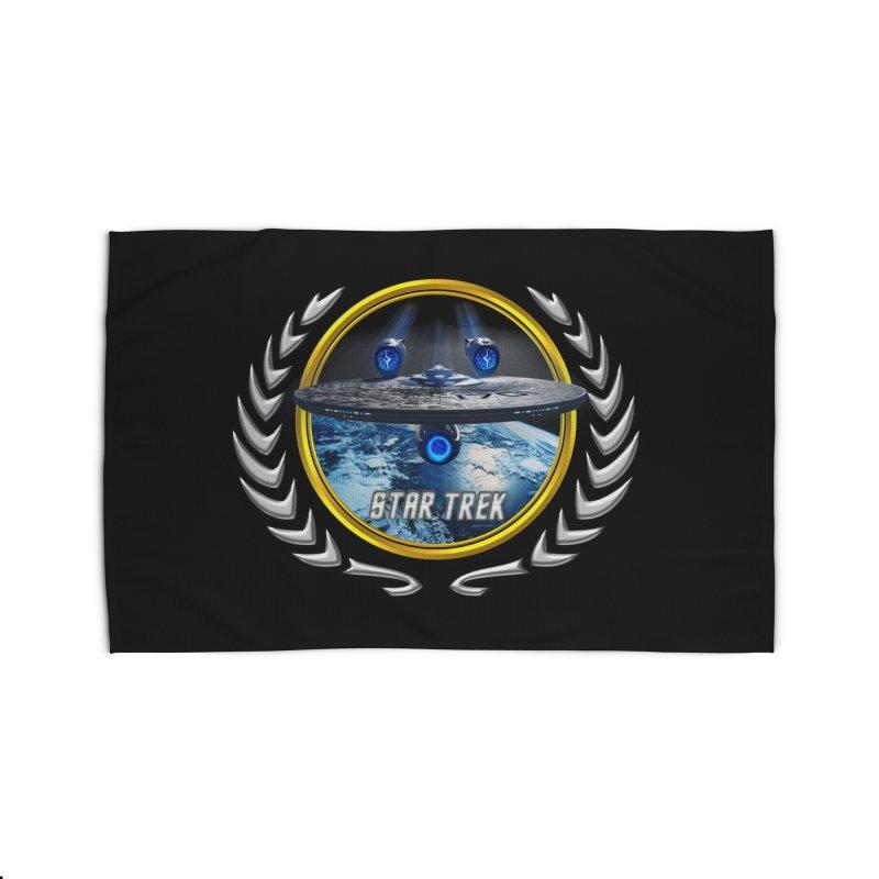 Star trek Federation of Planets Enterprise JJA2 Home Rug by ratherkool's Artist Shop