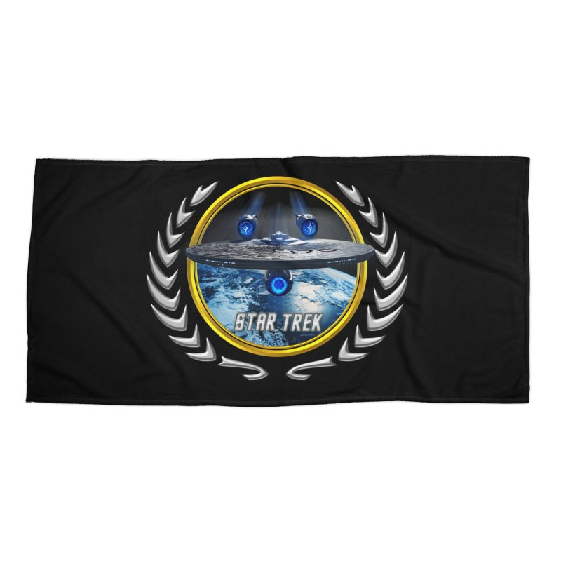 Star trek Federation of Planets Enterprise JJA2 Accessories Beach Towel by ratherkool's Artist Shop