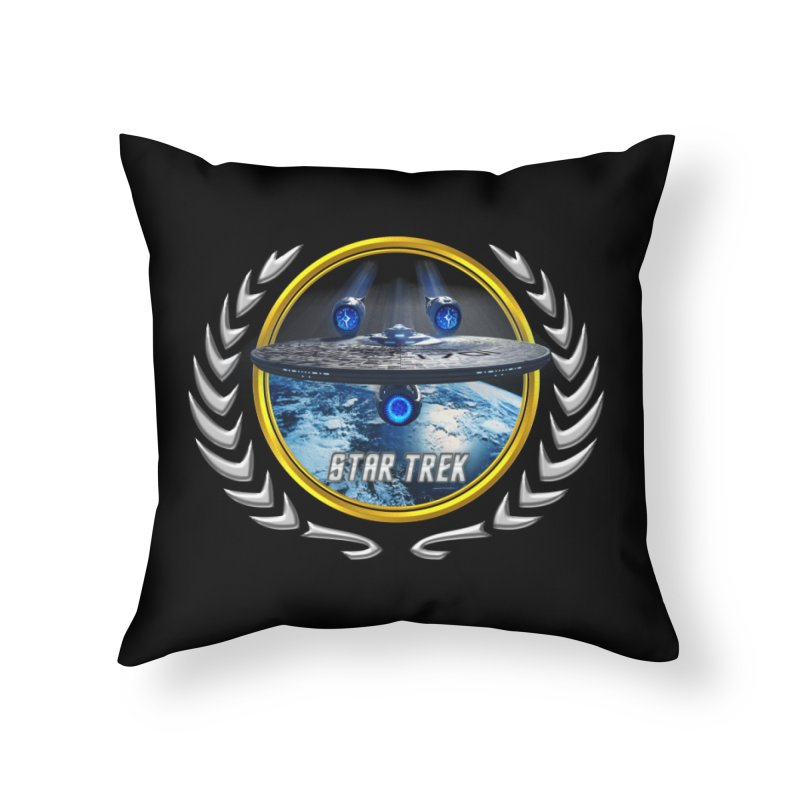 Star trek Federation of Planets Enterprise JJA2 Home Throw Pillow by ratherkool's Artist Shop
