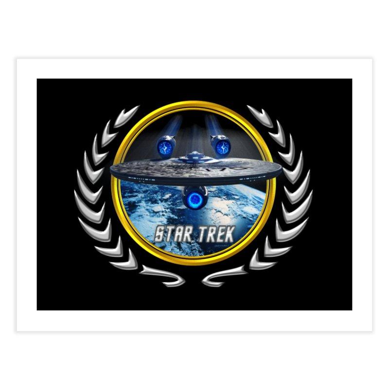 Star trek Federation of Planets Enterprise JJA2 Home Fine Art Print by ratherkool's Artist Shop