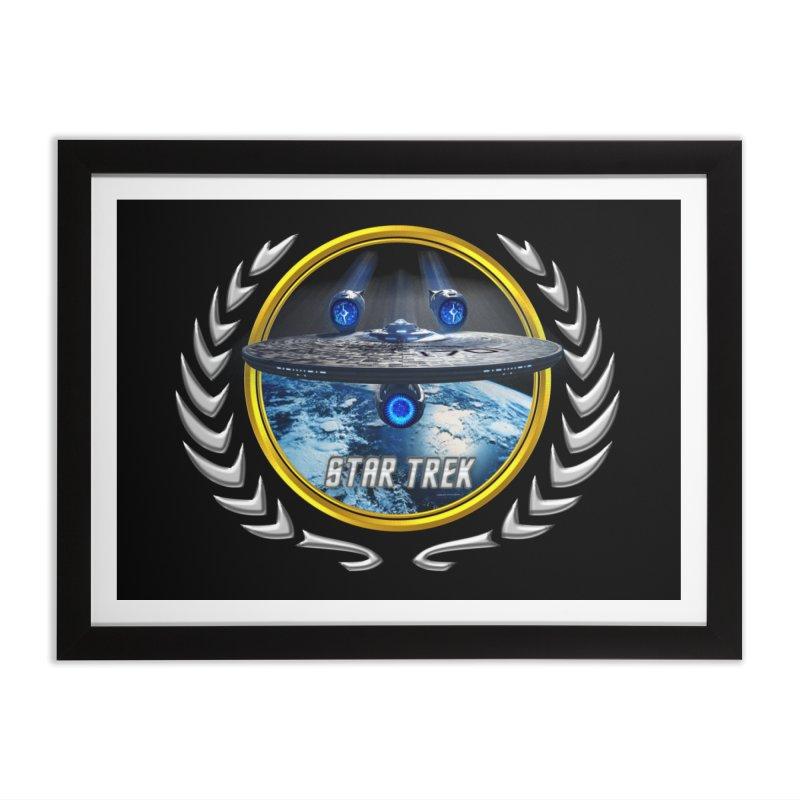 Star trek Federation of Planets Enterprise JJA2 Home Framed Fine Art Print by ratherkool's Artist Shop