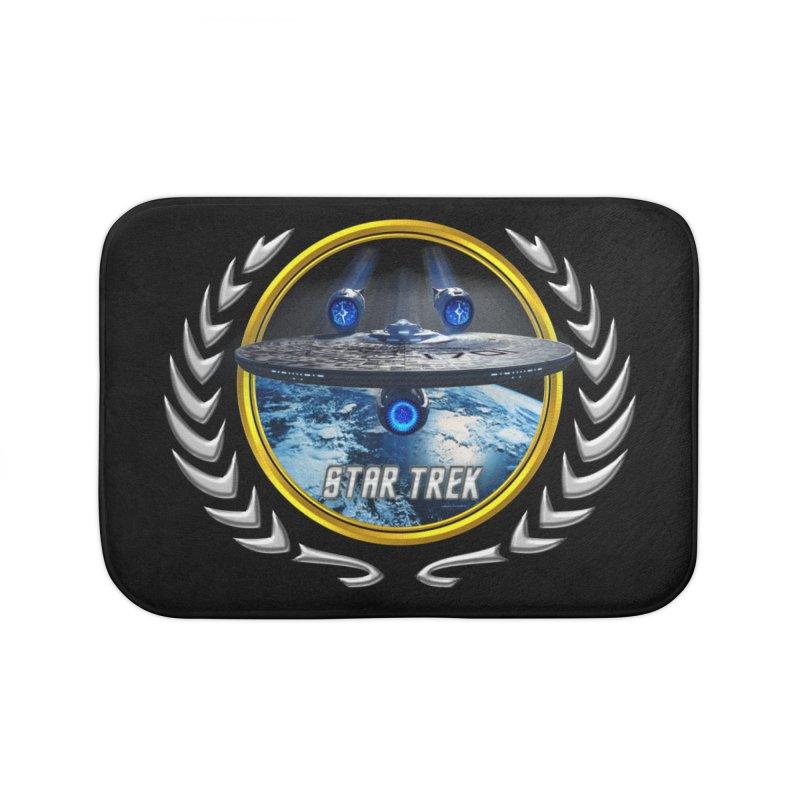 Star trek Federation of Planets Enterprise JJA2 Home Bath Mat by ratherkool's Artist Shop