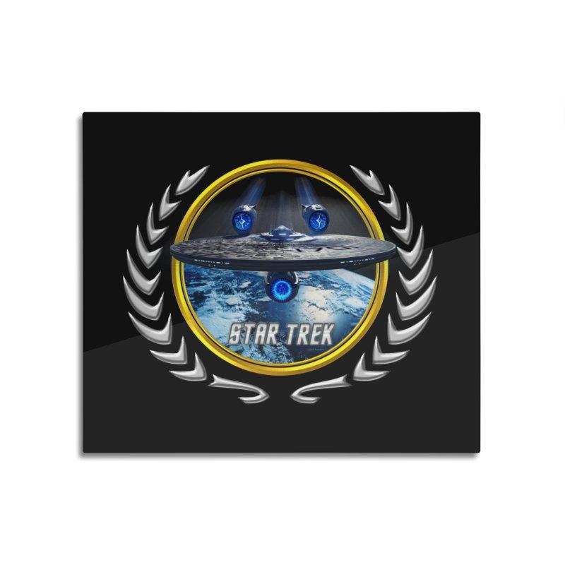 Star trek Federation of Planets Enterprise JJA2 Home Mounted Aluminum Print by ratherkool's Artist Shop