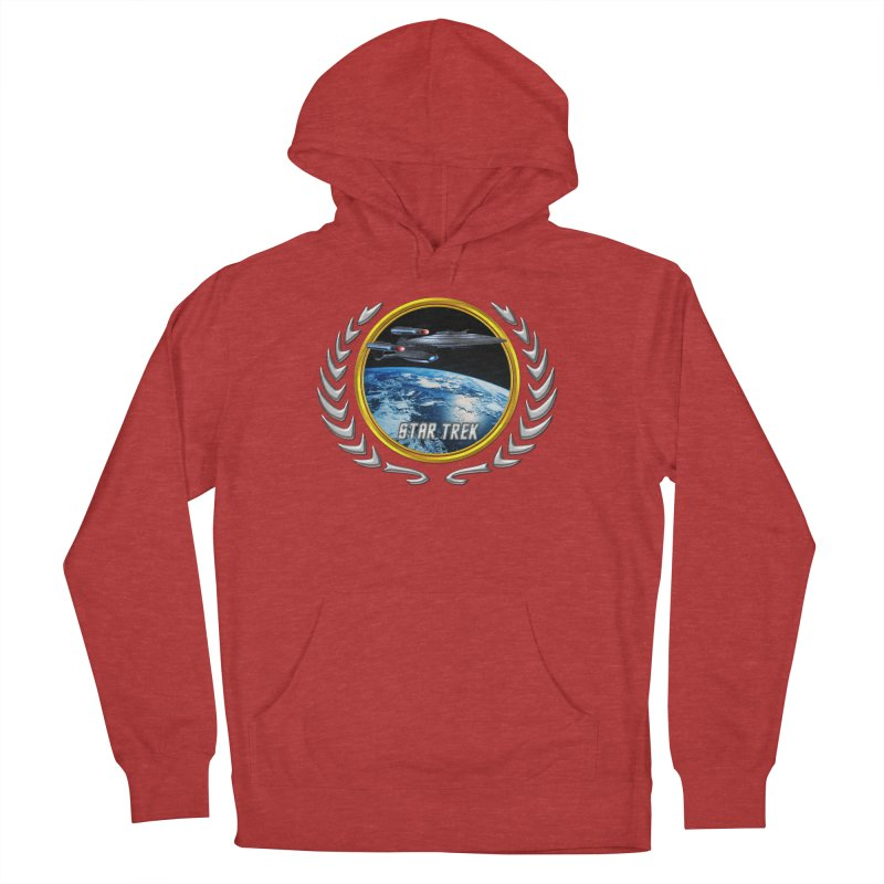 Star trek Federation of Planets Enterprise Galaxy Class Dreadnought Men's Pullover Hoody by ratherkool's Artist Shop