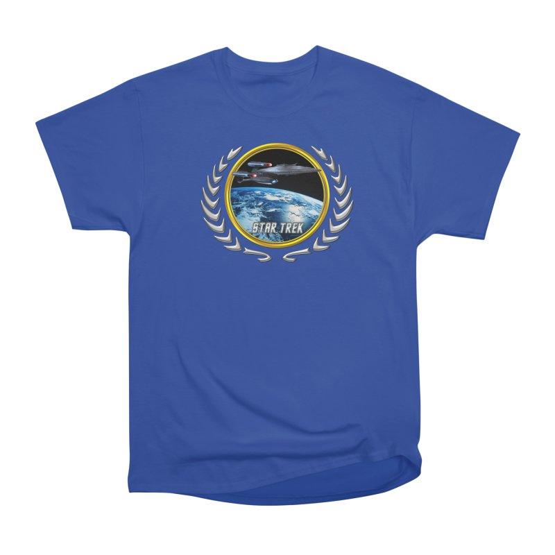 Star trek Federation of Planets Enterprise Galaxy Class Dreadnought Women's Classic Unisex T-Shirt by ratherkool's Artist Shop