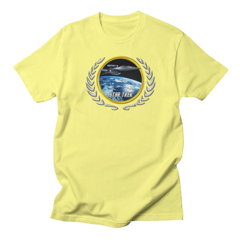 Star trek Federation of Planets Enterprise Galaxy Class Dreadnought Men's T-Shirt by ratherkool's Artist Shop