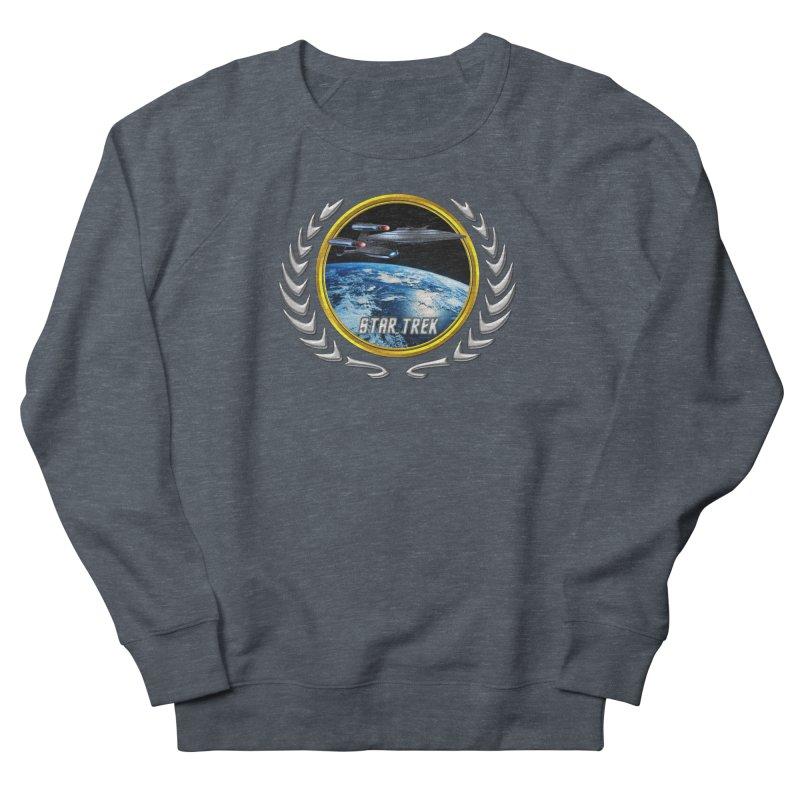 Star trek Federation of Planets Enterprise Galaxy Class Dreadnought Men's Sweatshirt by ratherkool's Artist Shop