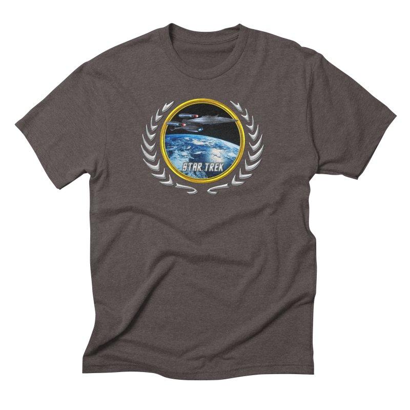 Star trek Federation of Planets Enterprise Galaxy Class Dreadnought Men's Triblend T-Shirt by ratherkool's Artist Shop