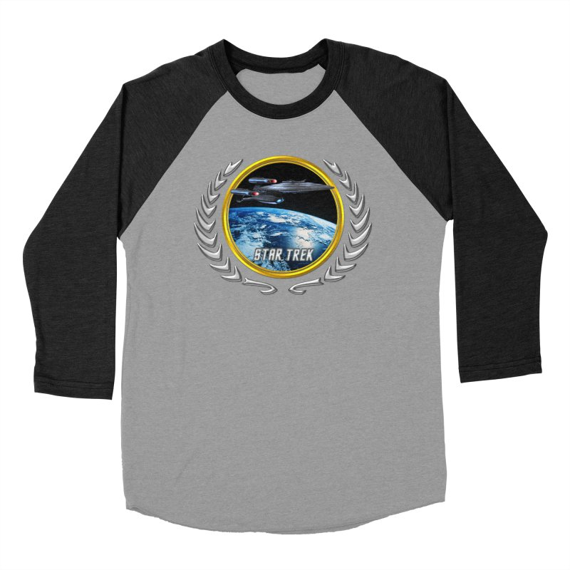 Star trek Federation of Planets Enterprise Galaxy Class Dreadnought Women's Baseball Triblend T-Shirt by ratherkool's Artist Shop