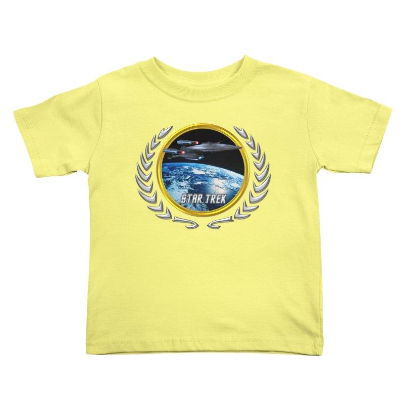 Star trek Federation of Planets Enterprise Galaxy Class Dreadnought Kids Toddler T-Shirt by ratherkool's Artist Shop