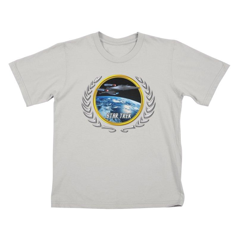 Star trek Federation of Planets Enterprise Galaxy Class Dreadnought Kids T-Shirt by ratherkool's Artist Shop