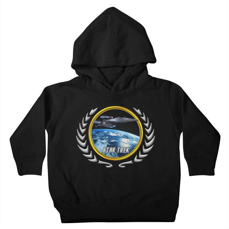 Star trek Federation of Planets Enterprise Galaxy Class Dreadnought Kids Toddler Pullover Hoody by ratherkool's Artist Shop