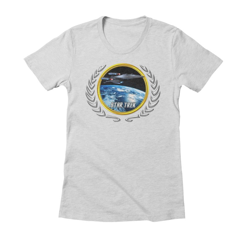Star trek Federation of Planets Enterprise Galaxy Class Dreadnought Women's Fitted T-Shirt by ratherkool's Artist Shop