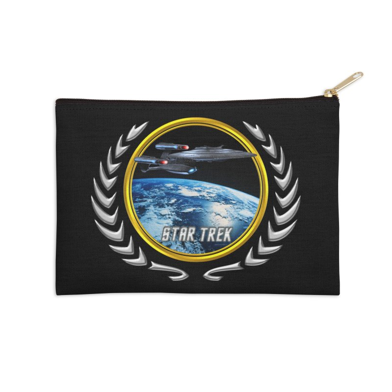 Star trek Federation of Planets Enterprise Galaxy Class Dreadnought Accessories Zip Pouch by ratherkool's Artist Shop