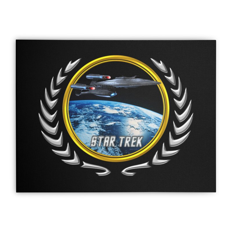 Star trek Federation of Planets Enterprise Galaxy Class Dreadnought Home Stretched Canvas by ratherkool's Artist Shop