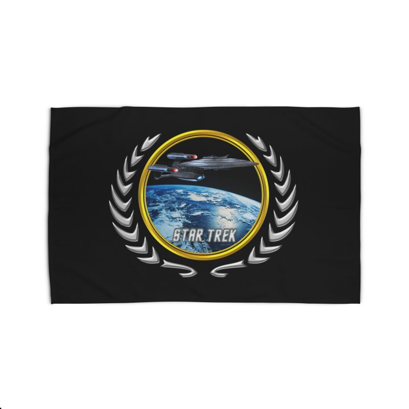 Star trek Federation of Planets Enterprise Galaxy Class Dreadnought Home Rug by ratherkool's Artist Shop