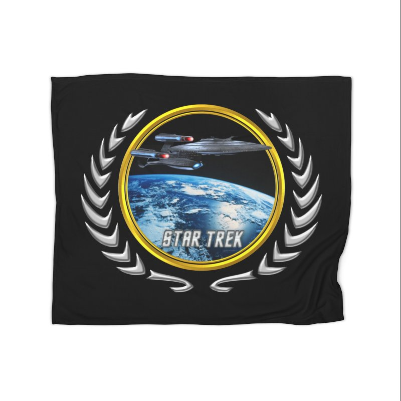 Star trek Federation of Planets Enterprise Galaxy Class Dreadnought Home Blanket by ratherkool's Artist Shop